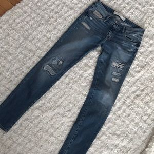 Abercrombie & Fitch distressed jeans